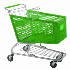 Big Size Supermarket Plastic Shopping Trolley pictures & photos