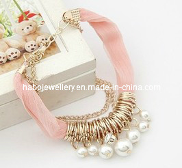 Satin Bracelet Full of Rings and Pearl (XBL12945) pictures & photos