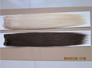 Wholesale Top Quality Double Drawn Machine Made Human Hair Weft