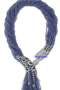 Luxury 925 Sterling Silver Beads Necklace (N40028)