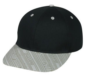 Black 6-Panel Polyester Cap