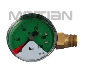 2 Inch Steel Plastic Cover Right Interface Pressure Gauge with Safety Requirement