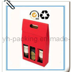 Environmental Paper Gift Wine Box with Window (No. 001)