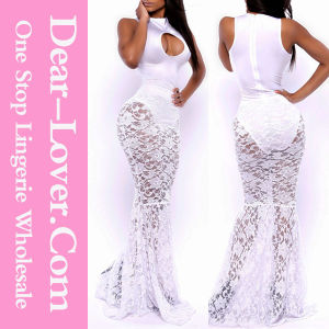 Opulent Allure Mermaid White Lace Ladies Wedding Bridal Dress pictures & photos