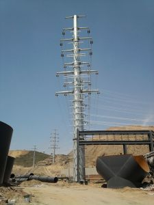 Galavanized Electric Monopole Tower for Power Transmission Line pictures & photos