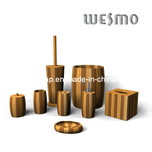 Two-Tone Bamboo Bathroom Accessory (WBB0462A) pictures & photos