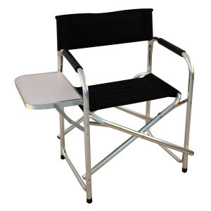 Folding Directors Chair With Side Table.Aluminum Folding Director Chair With Side Table