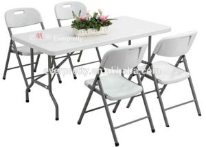Wholesale Dining Room Furniture White Plastic Folding Tables and Chairs pictures & photos