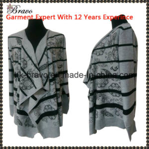 Wholesale High Quality Fashional Designed Ladies V-Neck Long Sleeve Cardigan Knitted Sweater Stock (FS1304114)