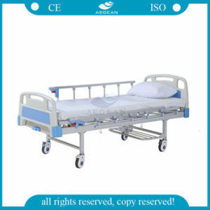 (AG-BYS203) 1-Crank Manual Power Coating Nursing Bed pictures & photos