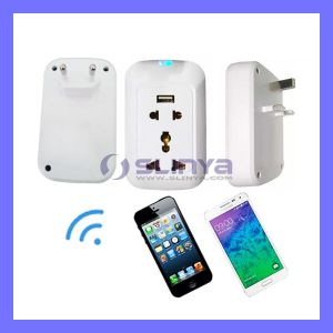 Remote Control Wireless Outlet Smart WiFi Scoket Electrical Switch and Socket for iPhone Samsung Mobile Phone with Power Meter Function pictures & photos