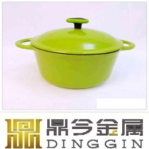 24cm Red Color Cast Iron Pot/Enameled Coated Cast Iron Cookware pictures & photos