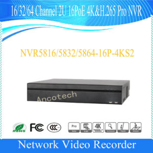 Dahua 16 Channel 2u 16poe 4k&H. 265 PRO Security NVR (NVR5816-16P-4KS2) pictures & photos