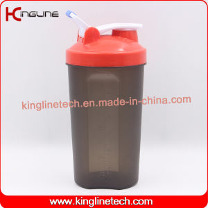 Custom color 700ml plastic protein shaker bottle with lid (KL-7034G) pictures & photos
