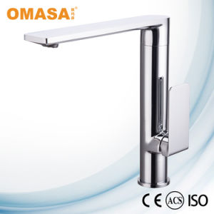 Single Handle Desk Mounted Brass Hot Cold Water Contemporary Kitchen Faucet