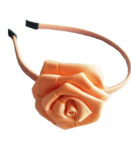Grosgrain Ribbon with Rose Headband