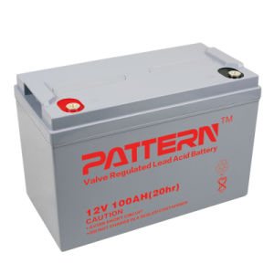 12V100ah Lead Acid UPS Battery with RoHS/CE/Soncap