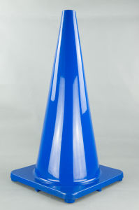 70cm Blue Color PVC Traffic Cone pictures & photos