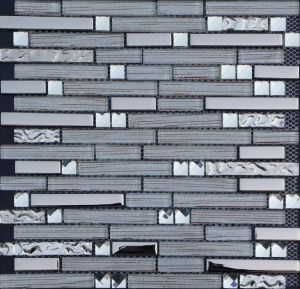 Strip Mosaic Wall Tile, Mosaic Glass Tile