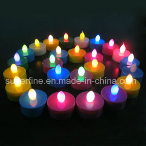 Christmas Decorative Flameless Pillar LED Battery Operated Multicolor Imitation Tealights pictures & photos