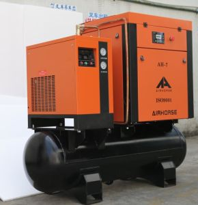 Electric Motor All-in-One Screw Air Compressor with Air Dryer pictures & photos