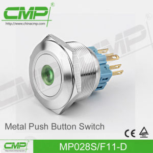 28mm Stainless Steel Push Button Switch with Power Light pictures & photos