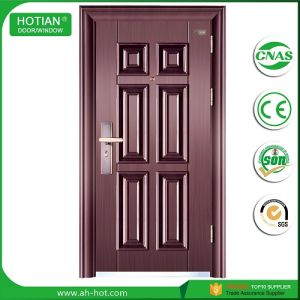 New Design Steel Single Main Door Design Wrought Iron Grill Door