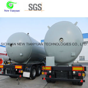 0.8MPa Working Pressure LNG Liquid Storage Tank Semi-Trailer