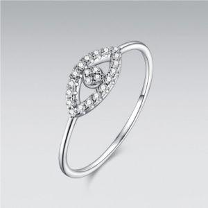 China Simple Silver Jewelry Evil Eye Diamond Ring China Jewelry