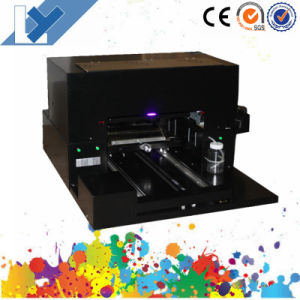 Cheapest Desktop A3 Size UV Flatbed Printer with 6 Color and UV Lamp IR Sensor for Personal Gift Printing pictures & photos