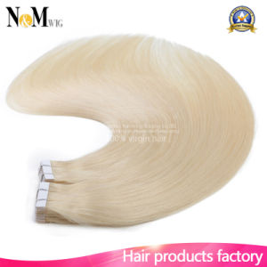 Skin Weft Human Hair Premium Quality Golden Human Hair Tape Hair Extensions pictures & photos