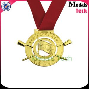 Hot Selling Die Casting 3D Gold Medals with Sandblasted (MTMD006)