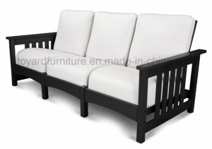 Top Quality Modern Simply Design Wooden Frame Outdoor Garden Furniture 3-Seaters Sofa for Hotel Club
