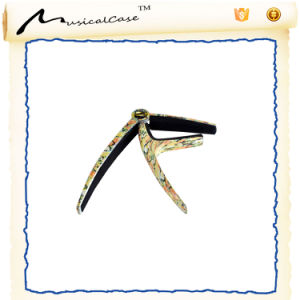 Aluminum Alloy Guitar Capo for Sale (wood color) pictures & photos