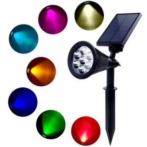 Waterproof Dark Sensing Auto on/off 7LED Solar Garden Light for The Yard Patio Stair Pool