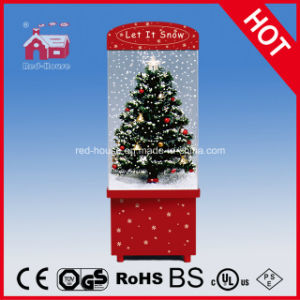 snowing christmas decoration with flying snow and led lights - Snowing Christmas Decoration