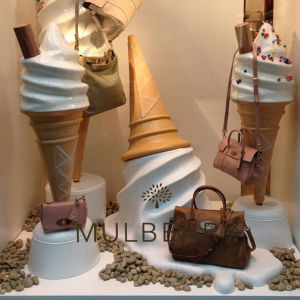 china holiday decorations window display prop fiberglass ice cream