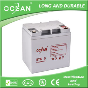 Deep Cycle AGM Battery 12V 24ah for UPS