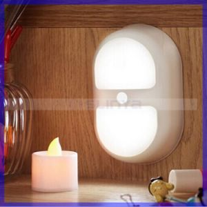 Stick on Automatic Bedside Motion Sensor Cabinet Night Light pictures & photos