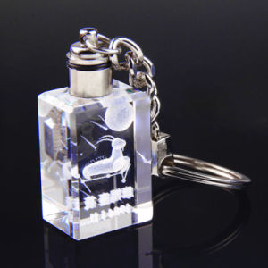 Crystal Keychain Promotion Gifts Laser Logo LED Crystal Keyring pictures & photos