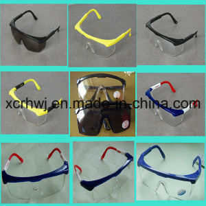 Clear Lens with Yellow Frame Safety Goggles, Protective Eyewear, Eye Glasses, Ce En166 Safety Glasses, PC Lens Safety Goggles Manufacturer