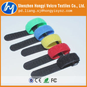 Colroful Self-Locking, Releasable Hook & Loop Velcro Cable Tie pictures & photos