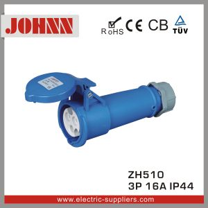 IP44 3p 16A Blue Waterproof Industrial Connector pictures & photos