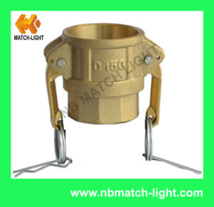 Brass Type D Sand Casting Female BSPP Camlock Fittings pictures & photos