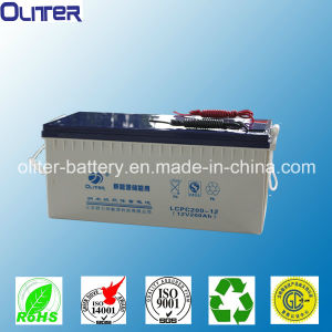 Deep Cycle Gel Solar Battery 12V200ah with 3years Warranty