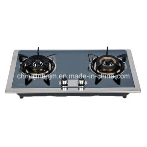 2 Burners Color-Coated Stainless Steel Cooktop/ Built-in Hob/Gas Hob pictures & photos