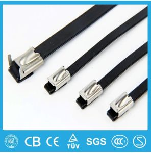Ball Lock Epoxy Coated Stainless Steel Cable Tie pictures & photos