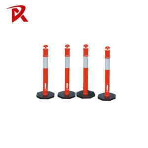 Road Safety Traffic Items 110cm T-Top Plastic Bollard Reflective Delineator Post pictures & photos