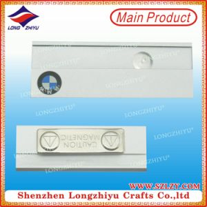 Blank Magnetic Name Badge Metal Name Badge with Logo Printing pictures & photos