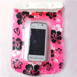 Fashion Cute Flower Printed PVC Waterproof Cellphone Dry Bag (YKY7225) pictures & photos
